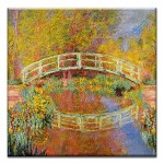 GREETING CARD - MONET THE JAPANESE BRIDGE THUMBTACK  -  39168