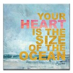 GREETING CARD - THE SIZE OF THE OCEAN THUMBTACK - 39169