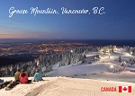 POST CARD - GROUSE MOUNTAIN VANCOUVER BC - 586 - 00591