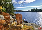POST CARD - GREETINGS COTTAGE COUNTRY - 586 - 00616